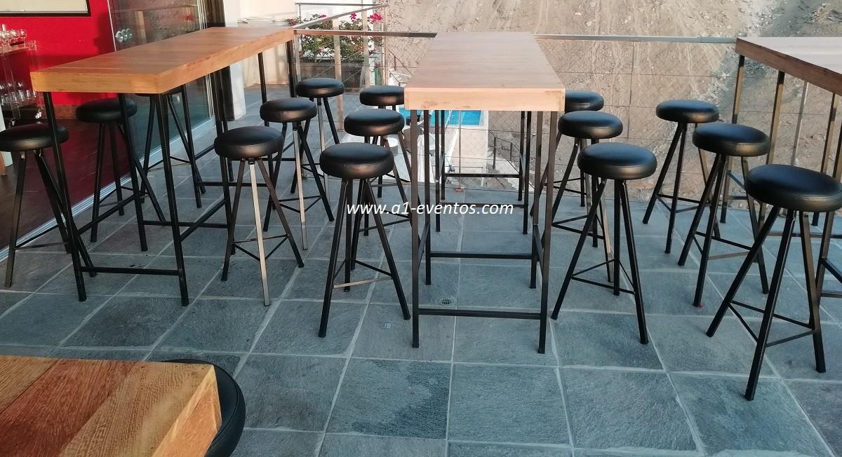 mesa bar industrial 06 bancos redondos 3