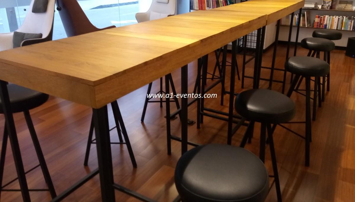 mesa bar industrial 06 bancos redondos 5