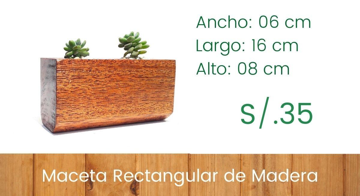 Maceta Rectangular - Borde Curvo