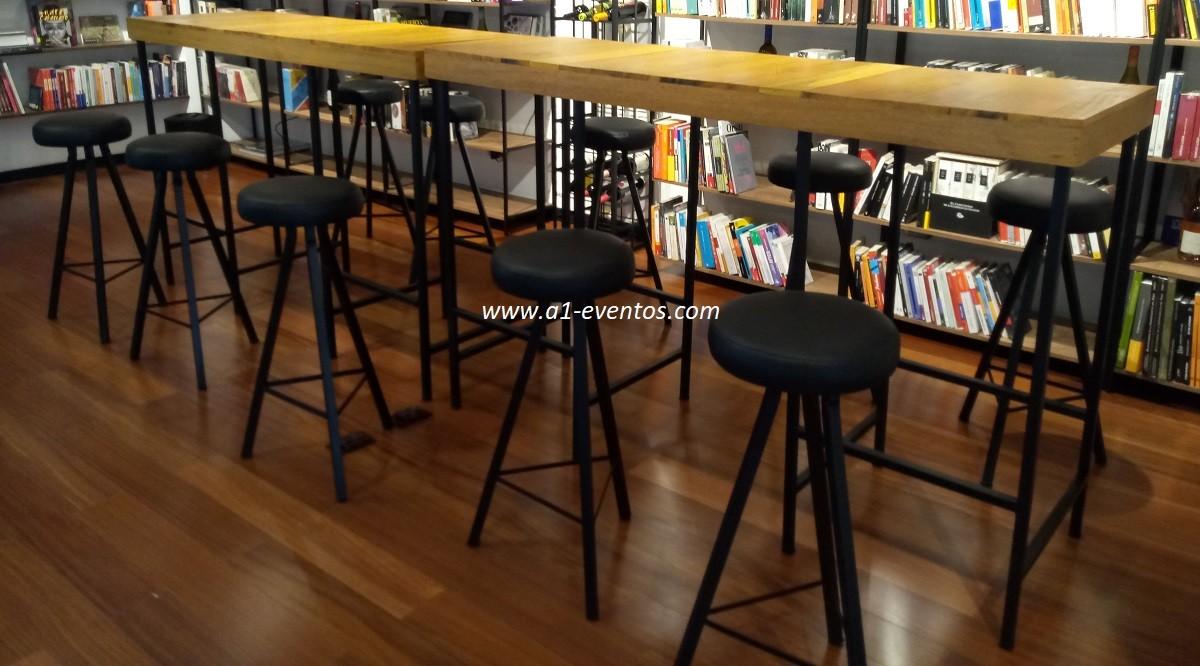 mesa bar industrial 06 bancos redondos 2